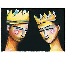 King & Queen of hearts Photographic Print