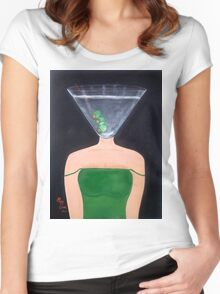 Martini Time Women's Fitted Scoop T-Shirt