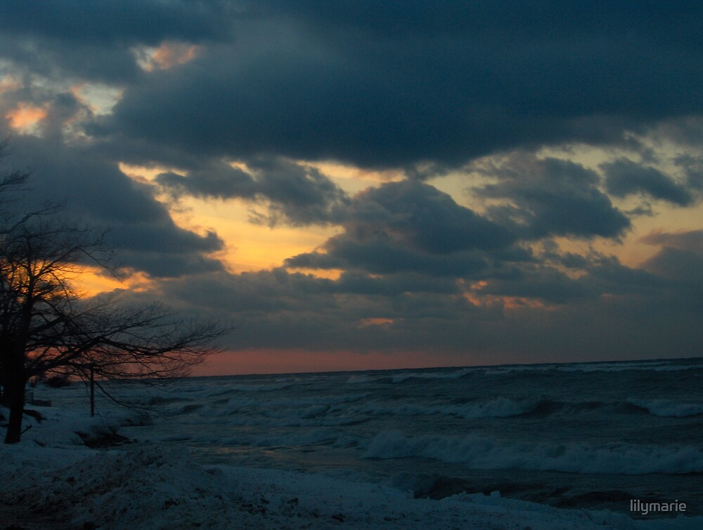 Sunset over ontario by lilymarie
