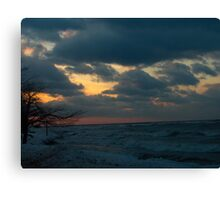 Sunset over ontario Canvas Print