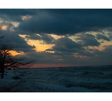 Sunset over ontario Photographic Print