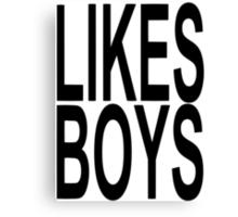 LIKES BOYS Canvas Print
