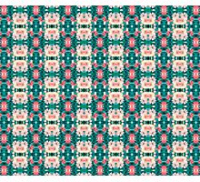Abstract Pattern Green Pink Photographic Print