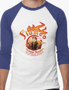 Flameo Instant Noodles! Men's Baseball ¾ T-Shirt