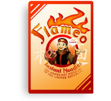 Flameo Instant Noodles! Canvas Print
