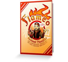 Flameo Instant Noodles! Greeting Card