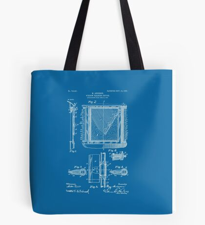 Mary Anderson - Windshield Wipers - Blueprint (no description) Tote Bag