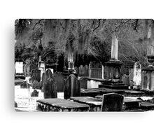 Spooky Graveyard  Canvas Print