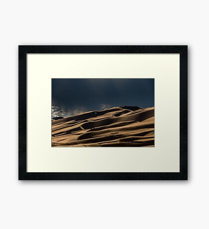 Nature Travel Wall Tapestry Tapestries - Colorado Snow Dune - Mountains Framed Print
