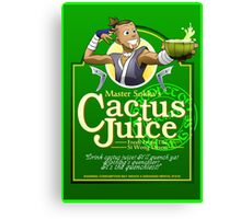 Master Sokka's Cactus Juice Canvas Print
