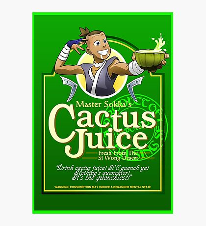Master Sokka's Cactus Juice Photographic Print