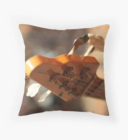 Bass Guitar's Headstock Throw Pillow