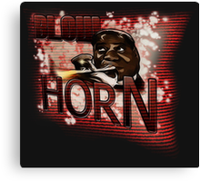 Louis Armstrong - Blow Horn with Bubbles Canvas Print