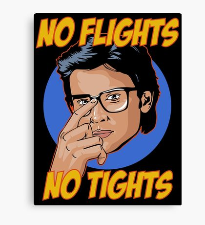 Official Tom Welling - No Flights, No Tights Tee Canvas Print