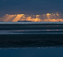 Nudgee Beach sunrise by Judy Harland