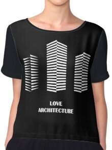 i love architecture Chiffon Top