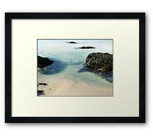 Rock Pools Framed Print