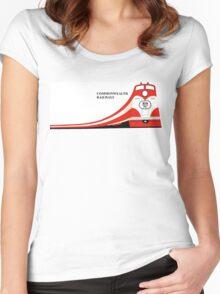 1960s Commonwealth Railways Advert Women's Fitted Scoop T-Shirt