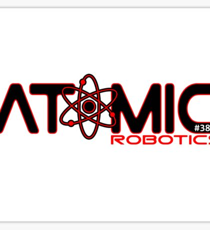 Atomic Robotics Logo Black on White Sticker