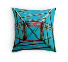 Symmetrical Maze Throw Pillow