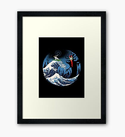 The Great Battle  Framed Print