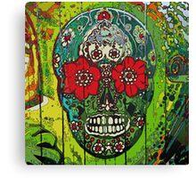 Sugar Skull streetart graffiti Canvas Print