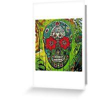 Day of dead sugar art skull graffiti gifts Greeting Card