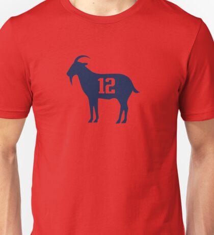 goat tb12 tom Brady Unisex T-Shirt