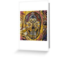 Sugar Skull streetart graffiti Greeting Card