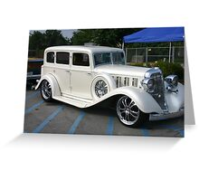Pearl White Cadillac Greeting Card