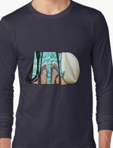 The Swimmer - White Long Sleeve T-Shirt