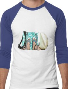 The Swimmer - White Men's Baseball ¾ T-Shirt