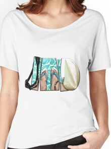 The Swimmer - White Women's Relaxed Fit T-Shirt