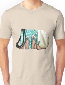 The Swimmer - White Unisex T-Shirt