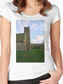 St Andrews Church, Upleatham Women's Fitted Scoop T-Shirt