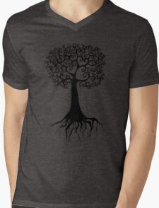 Enchanted Tree of Love Mens V-Neck T-Shirt