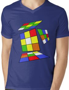 Cube Mens V-Neck T-Shirt