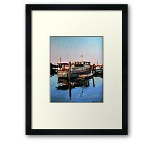 Wynnum Creek Morning Framed Print