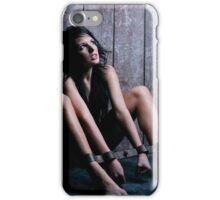 Charlotte locked in the Rigid Irons iPhone Case/Skin