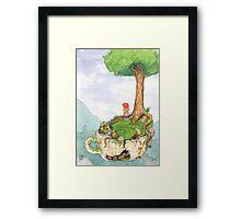 Tea cup girl  Framed Print
