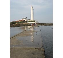 St Mary's Lighthouse , Whitley Bay , UK  Photographic Print