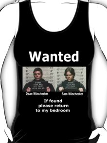 Winchesters Wanted... With white lettering  T-Shirt