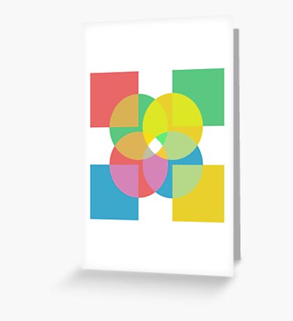 4x Colour  Greeting Card