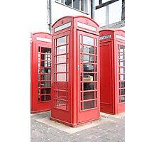 English Phone Box Photographic Print