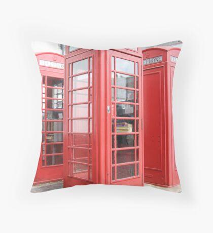 English Phone Box Throw Pillow