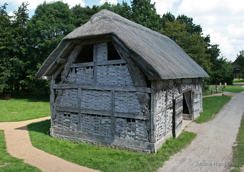 Cruck-frame barn - 16th Century by Justine Humphries