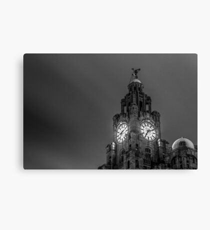 Top of the Liver Building tower Canvas Print