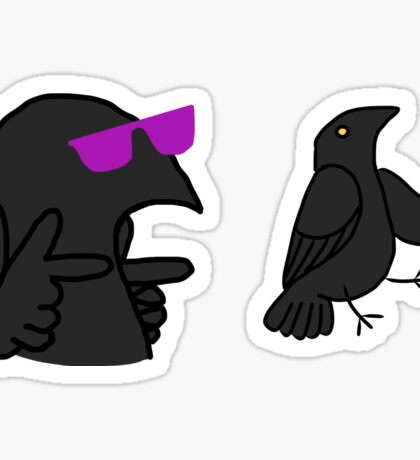 Cool Corvids - Generic Crow/Raven/etc Sticker