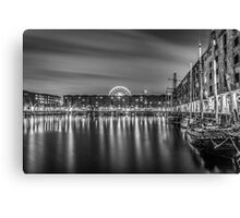 Albert Dock at night Canvas Print