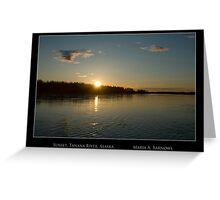 Sunset on the Tanana - Cool Stuff Greeting Card